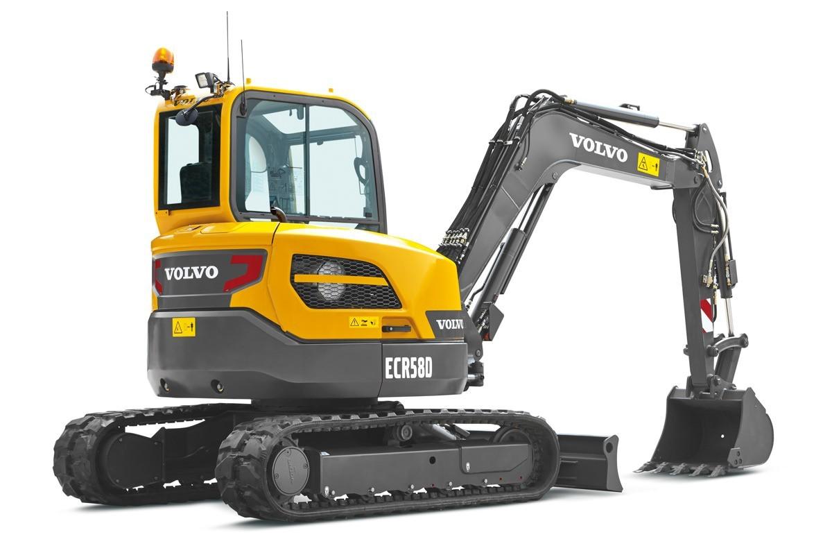 compact excavator Volvo CE ECR58D