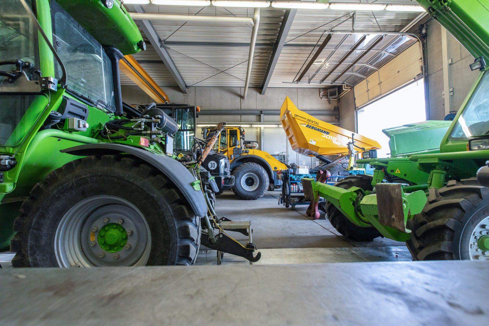 Werkstatt bei Brielmaier Baumaschinen in Ravensburg