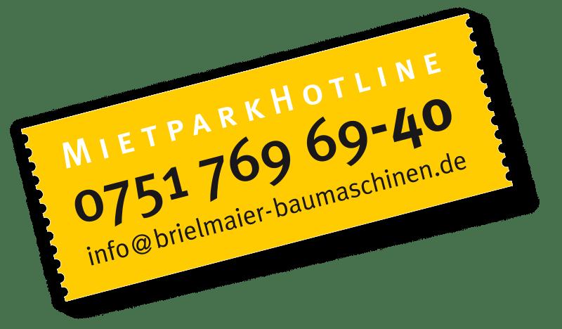 Mietpark Hotline bei Brielmaier