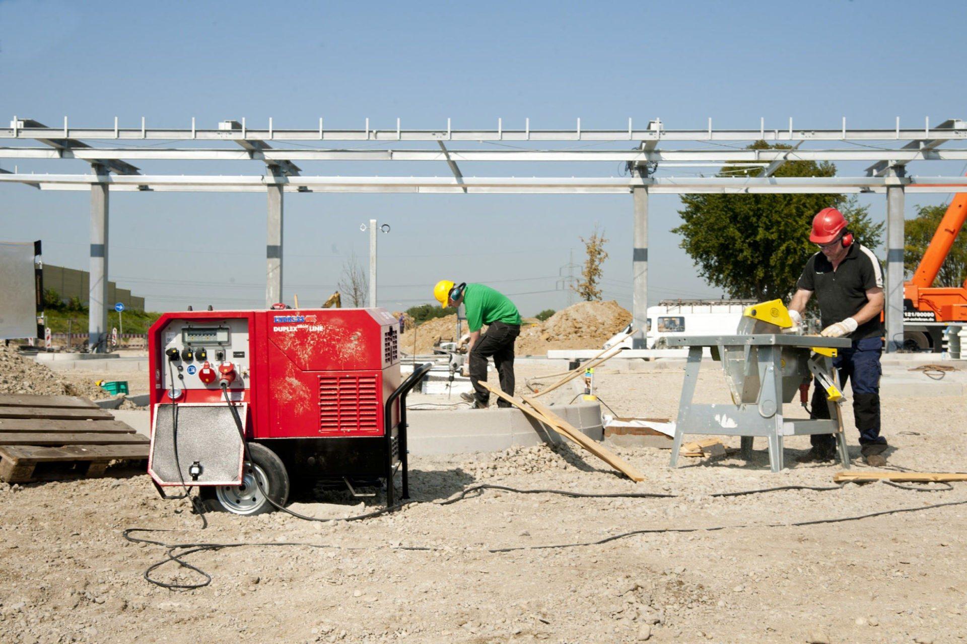 Auf der Baustelle: Endress Stromerzeuger