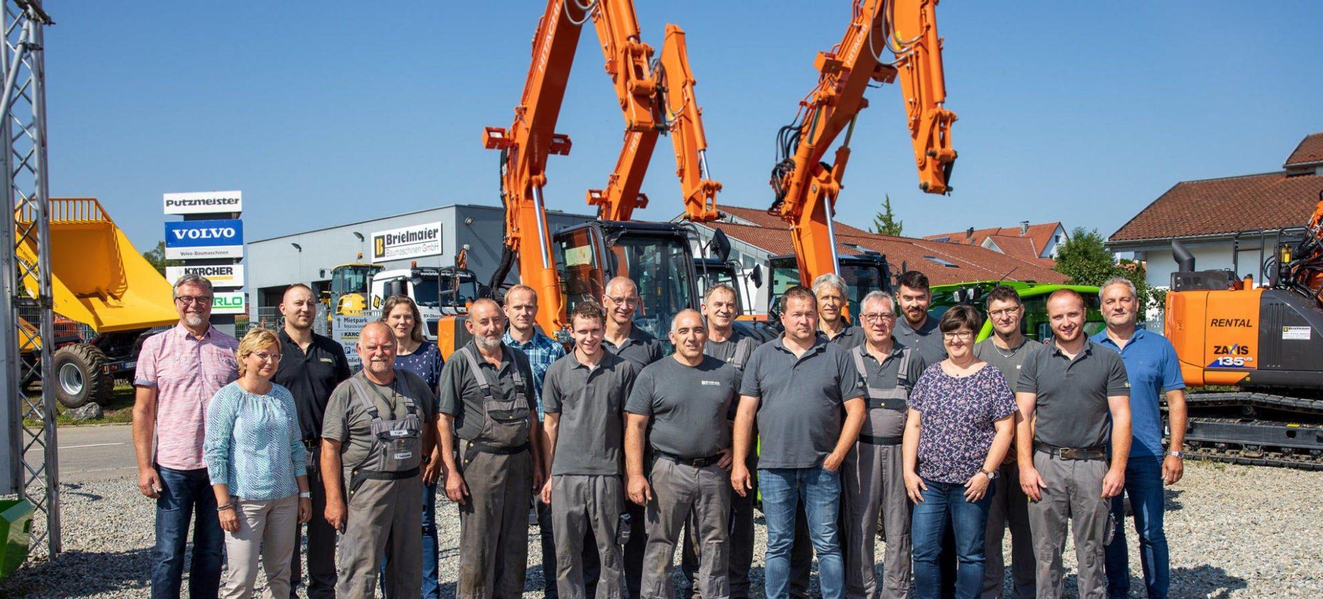 Belegschaft bei Brielmaier Baumaschinen